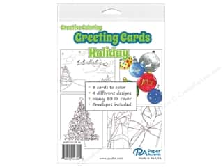 Paper Accents Creative Coloring Card & Envelopes - 4 1/4 x 5 1/2 in. - Holiday 8 pc.
