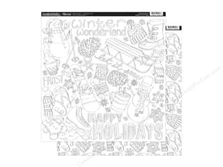 Clearance: Paper Accents Creative Coloring Paper 12 x 12 in. Winter