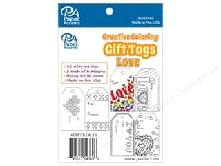 Clearance: Paper Accents Creative Coloring Tags 2 x 3 3/4 in. 12 pc. Love