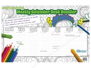 Paper Accents Creative Coloring Weekly Desk Doodler 11 x 17 in.