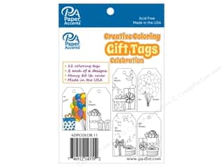 Paper Accents Creative Coloring Tags 2 x 3 3/4 in. 12 pc. Celebration