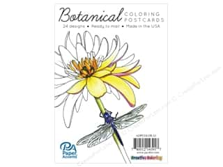 Paper Accents Creative Coloring Postcards 24 pc.Botanical