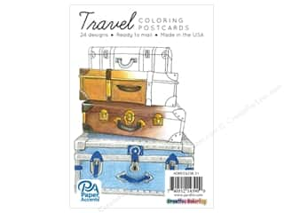 Paper Accents Creative Coloring Postcards 24 pc. Travel