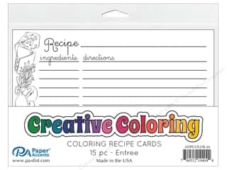 scrapbooking & paper crafts: Paper Accents Creative Coloring Recipe Cards 15 pc. Entree