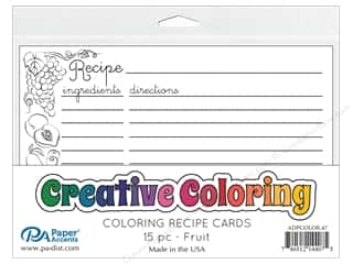 scrapbooking & paper crafts: Paper Accents Creative Coloring Recipe Cards 15 pc. Fruit