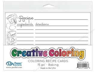scrapbooking & paper crafts: Paper Accents Creative Coloring Recipe Cards 15 pc. Baking