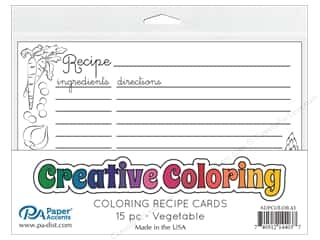 scrapbooking & paper crafts: Paper Accents Creative Coloring Recipe Cards 15 pc. Vegetable