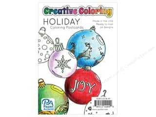 gifts & giftwrap: Paper Accents Creative Coloring Postcards 24 pc. Holiday