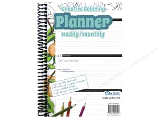 scrapbooking & paper crafts: Paper Accents Creative Coloring Weekly/Monthly Planner