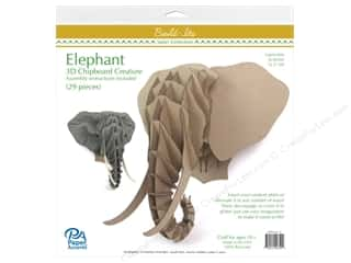 "craft & hobbies: Paper Accents Build Its Chip Elephant 13"" Tall"