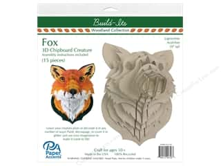 craft & hobbies: Paper Accents Chipboard Build-Its 10 in. Fox