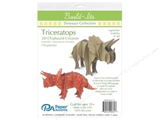 "Paper Accents Build Its Chip Triceratops 4"" Tall"