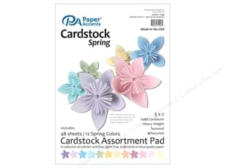 Paper Accents 5 x 7 in. Cardstock Pad 48 pc. Spring