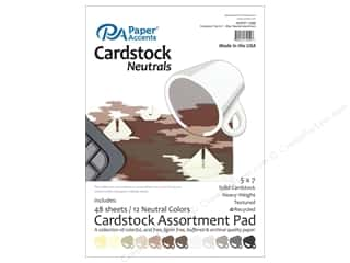 cardstock: Paper Accents 5 x 7 in. Cardstock Pad 48 pc. Neutral
