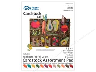 Paper Accents 8 1/2 x 11 in. Cardstock Pad 48 pc. Fall