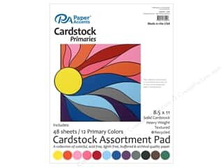 Cardstock: Paper Accents 8 1/2 x 11 in. Cardstock Pad 48 pc. Primary