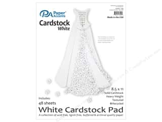 cardstock: Paper Accents 8 1/2 x 11 in. Cardstock Pad 48 pc. White