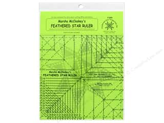 "ruler: Feathered Star Ruler 8.5"" with 8th & 16th Lines"