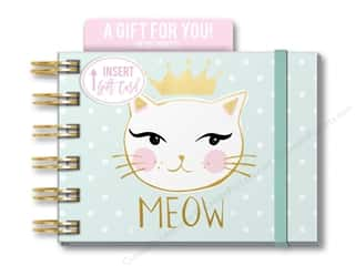 gifts & giftwrap: Lady Jayne Note Pad Spiral With Pocket Meow Cat