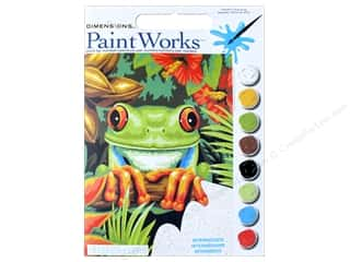 Dimensions PaintWorks Paint By Number 9 in. x 12 in. Tree Frog