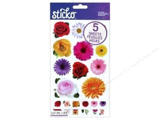 EK Sticko Stickers Flip Pack Photoreal Flowers