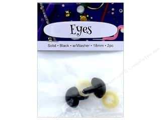craft & hobbies: PA Essentials Solid Animal Eyes 18 mm Black 2 pc.