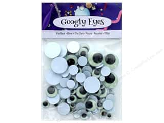 PA Essentials Googly Eyes Assorted Round 100 pc. Glow In The Dark