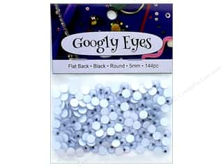 PA Essentials Googly Eyes 3/16 in. Round 144 pc. Black