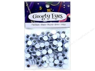 PA Essentials Googly Eyes 5/16 in. Round 144 pc. Black