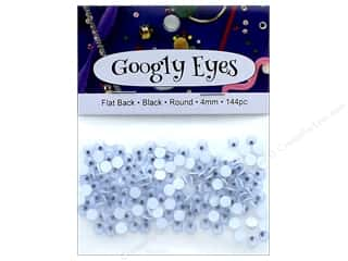 PA Essentials Googly Eyes 5/32 in. Round 144 pc. Black