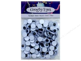 PA Essentials Googly Eyes 1/2 in. Round 144 pc. Black