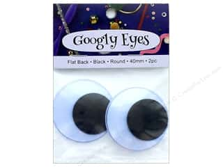 PA Essentials Googly Eyes 1 9/16 in. Round 2 pc. Black