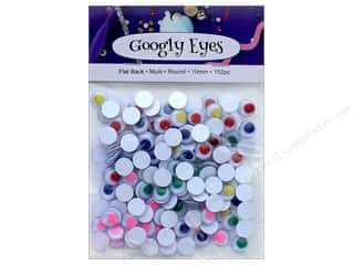 multi colored centers wiggle eyes: PA Essentials Googly Eyes 3/8 in. Round 152 pc. Multi