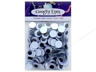 craft & hobbies: PA Essentials Googly Eyes 5/8 in. Round 144 pc. Black