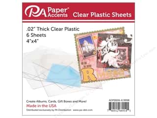 Paper Accents Plastic Sheet 4 x 4 in. Clear .02 in. 6 pc.