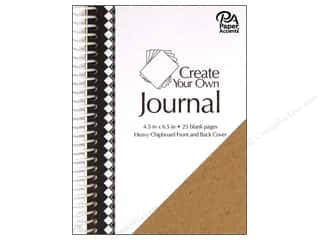 "Paper Accents Create Your Own Journal 4.5""x 6.5"" Blank 25 pg"