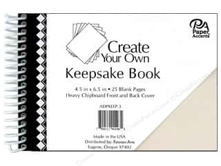 "Paper Accents Create Your Own Keepsake Book 6.5""x 4.5"" 25pg White Cover"