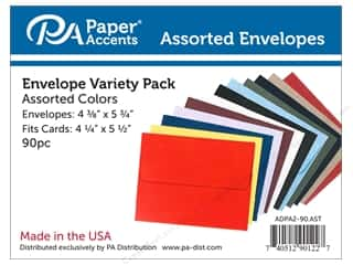 scrapbooking & paper crafts: Paper Accents 4 1/4 x 5 1/2 in. Envelopes 90 pc. Assorted