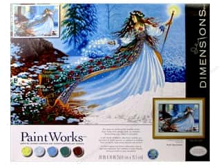"craft & hobbies: Dimensions Paint By Number 20""x 14"" Woodland Enchantress"