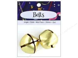 craft & hobbies: PA Essentials Jingle Bells 1 3/8 in. 2 pc. Gold