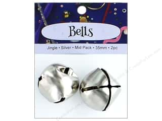 PA Essentials Jingle Bells 1 3/8 in. 2 pc. Silver
