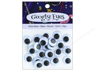 PA Essentials Sticky Back Googly Eyes 5/8 in. Round 25 pc. Black