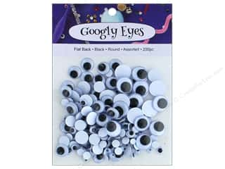 Googly Eyes: PA Essentials Googly Eyes Assorted Round 200 pc. Black