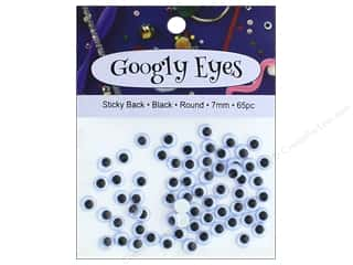craft & hobbies: PA Essentials Sticky Back Googly Eyes 9/32 in. Round 65 pc. Black