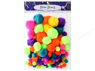 craft & hobbies: PA Essentials Pom Poms Variety Pack 100 pc. Assorted Bold Neon
