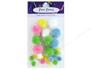 PA Essentials Pom Poms Variety Pack 25 pc. Assorted Iridescent Spring