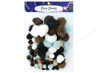 multi colored centers wiggle eyes: PA Essentials Pom Poms Variety Pack 100 pc. Assorted Animal
