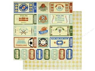 "ticket: Bo Bunny Collection Game On Paper 12""x 12"" (25 pieces)"