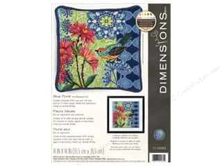 "yarn & needlework: Dimensions Needlepoint Kit 14""x 14 Blue Floral"