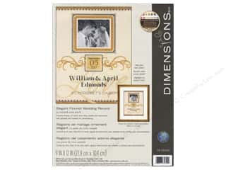 yarn & needlework: Dimensions Cross Stitch Kit Elegant Flourish Wedding Record